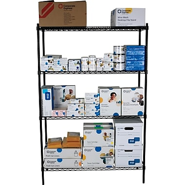 Staples® Wire Shelving, 4 Shelves, 72in. x 48in. x 18in.