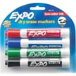 Expo® Dry-Erase Markers, Chisel Tip, Assorted, 4/Pack