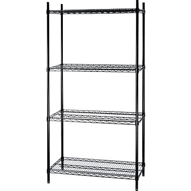 Staples® Wire Shelving, 4 Shelves, 72in. x 36in. x 24in.