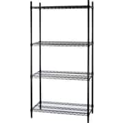 Staples® Wire Shelving, 4 Shelves, 72 x 48 x 24