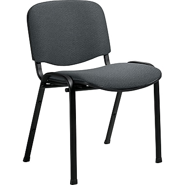 Global Deluxe Stack Chair, Dark Gray
