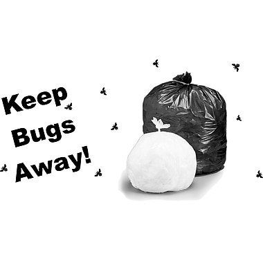 Stout® Insect Repellent Trash Bags, Black, 45 gal.