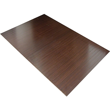 Anji Mountain Tri-Fold 60''x47'' Bamboo Chair Mat for Hard Floor, Rectangular, Dark Cherry (AMB0500-1009)