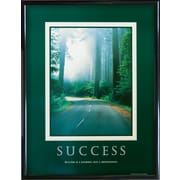 Success - Road Framed Motivational Print