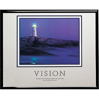in.Vision (Lighthouse)in. Framed Motivational Print