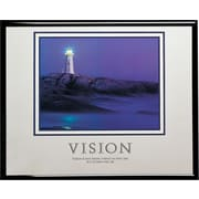 """Vision (Lighthouse)"" Framed Motivational Print"
