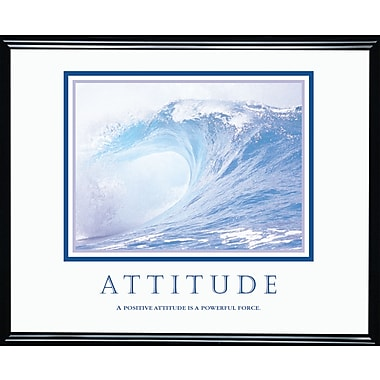 in.Attitude (Waves)in. Framed Motivational Print