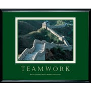 """Teamwork - Great Wall Framed Motivational Print"""