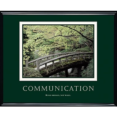 in.Communicationin. Framed Motivational Print