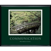 Communication Framed Motivational Print