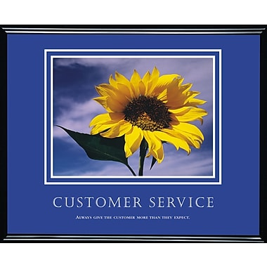 in.Customer Servicein. Framed Motivational Print