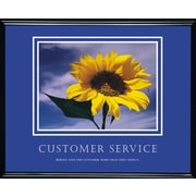 """Customer Service"" Framed Motivational Print"