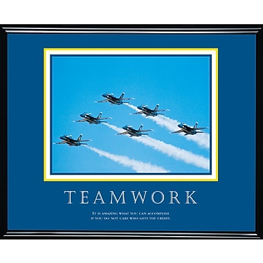 in.Teamwork (Jets)in. Framed Motivational Print