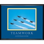 """Teamwork (Jets)"" Framed Motivational Print"