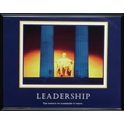 """Leadership"" Framed Motivational Print"