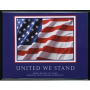 """United We Stand"" Framed Motivational Print"