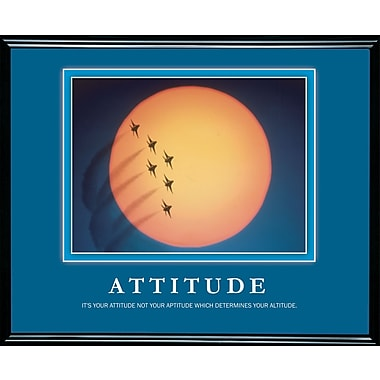 in.Attitudein. Framed Motivational Print