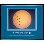 """Attitude"" Framed Motivational Print"