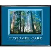 """Customer Care""  Framed Motivational Print"