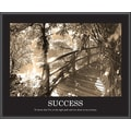 in.Successin.  Sepia Tone Framed Motivational Print