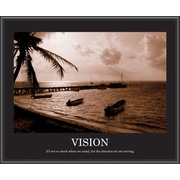 """Vision"" Framed Motivational Print, Sepia"