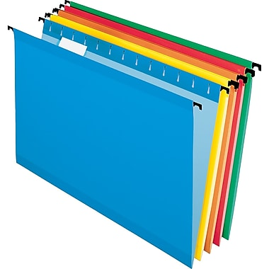 Pendaflex® SureHook Reinforced Hanging File Folders, Legal, 5 Tab, Assorted, 20/Box
