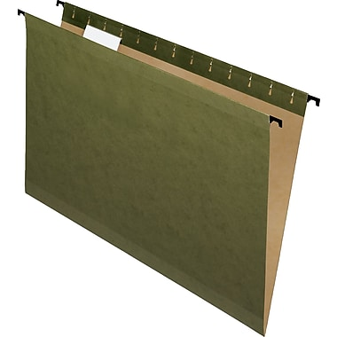 Pendaflex® SureHook Reinforced Hanging File Folders, Legal, 5 Tab, Standard Green, 20/Box