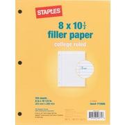 Staples® Filler Paper, Letter Size