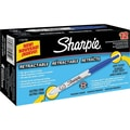 Sharpie® Retractable Markers, Ultra Fine Tip, Blue, Dozen