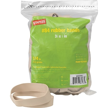 Staples Economy Rubber Bands, Size #84