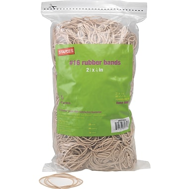 Staples Economy Rubber Bands, Size #16,  1 lb.