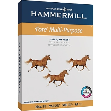 Hammermill Multipurpose Paper, 20 lb., A4 size, Case