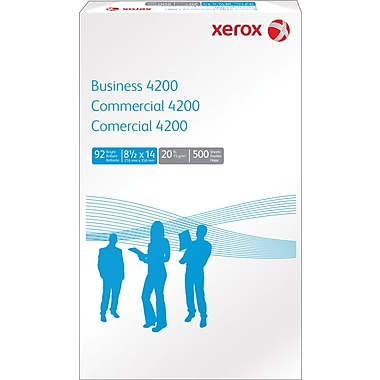 Xerox Business 4200 Copy Paper, 8 1/2in. x 14in., Ream