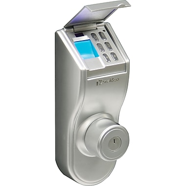 iTouchless Bio-Matic Fingerprint Deadbolt Door Lock Silver - Universal