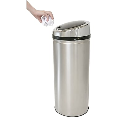 iTouchless Automatic Stainless Steel Touchless Trash Can® NX, 11 gal.