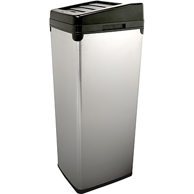 iTouchless Automatic Stainless Steel Touchless Trash Can® SX, 14 gal.