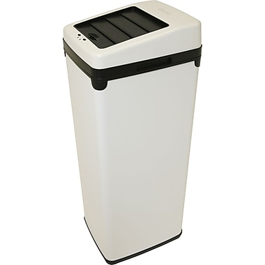 iTouchless Automatic White Steel Touchless Trash Can® SX, 14 gal.
