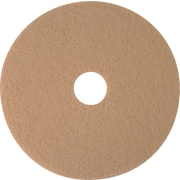 "3M Burnishing Pad, Tan Pad 3400, 20"", 5/Ct"
