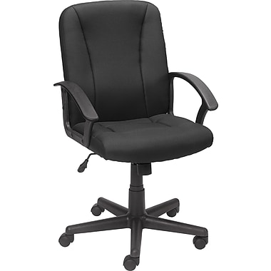 Staples Lockridge Fabric Managers Chair, Black