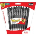 Pentel® WOW™ Retractable Ballpoint Pens, Medium Point, Black, 18/Pack