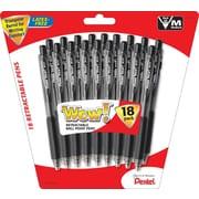 Pentel® WOW® Retractable Ballpoint Pens, Medium Point, 18/Pack