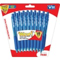 Pentel® WOW® Retractable Ballpoint Pens, Medium Point, Blue, 18/Pack