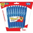 Pentel® WOW™ Retractable Ballpoint Pens, Medium Point, Blue, 18/Pack