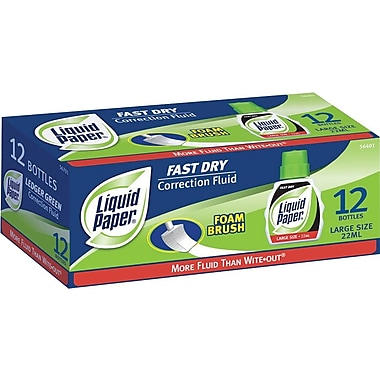 Paper Mate Liquid Paper® Fast Dry Correction Fluid, 22ml, Dozen