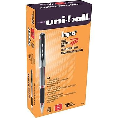 Uni-Ball 207 Impact Stick Gel Pen, Bold Point, Red Ink, 12/pk (65802)