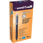 Uni-ball® Vision™ RT Rollerball Pen, Fine 0.6mm, Blue, Dozen