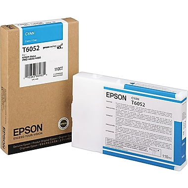 Epson T605 110ml Cyan UltraChrome Ink Cartridge (T605200)