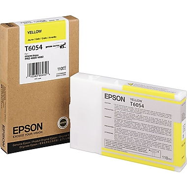 Epson T605 110ml Yellow UltraChrome Ink Cartridge (T605400)