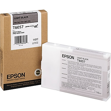 Epson T605 110ml Light Black UltraChrome Ink Cartridge (T605700)