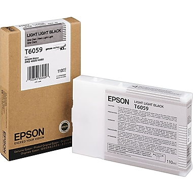 Epson T605 110ml Light Light Black UltraChrome Ink Cartridge (T605900)